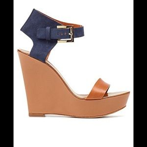 Hugo Boss Suede Wedges Size 38